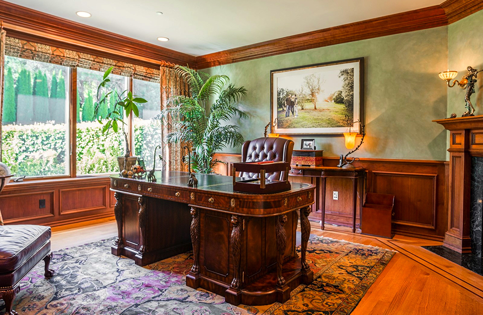 Located In One Of The Most Desirable Communities Of Silicon Valley, This  Mediterranean Estateu0027s Office Has Expansive Windows That Provide Abundant  Natural ...