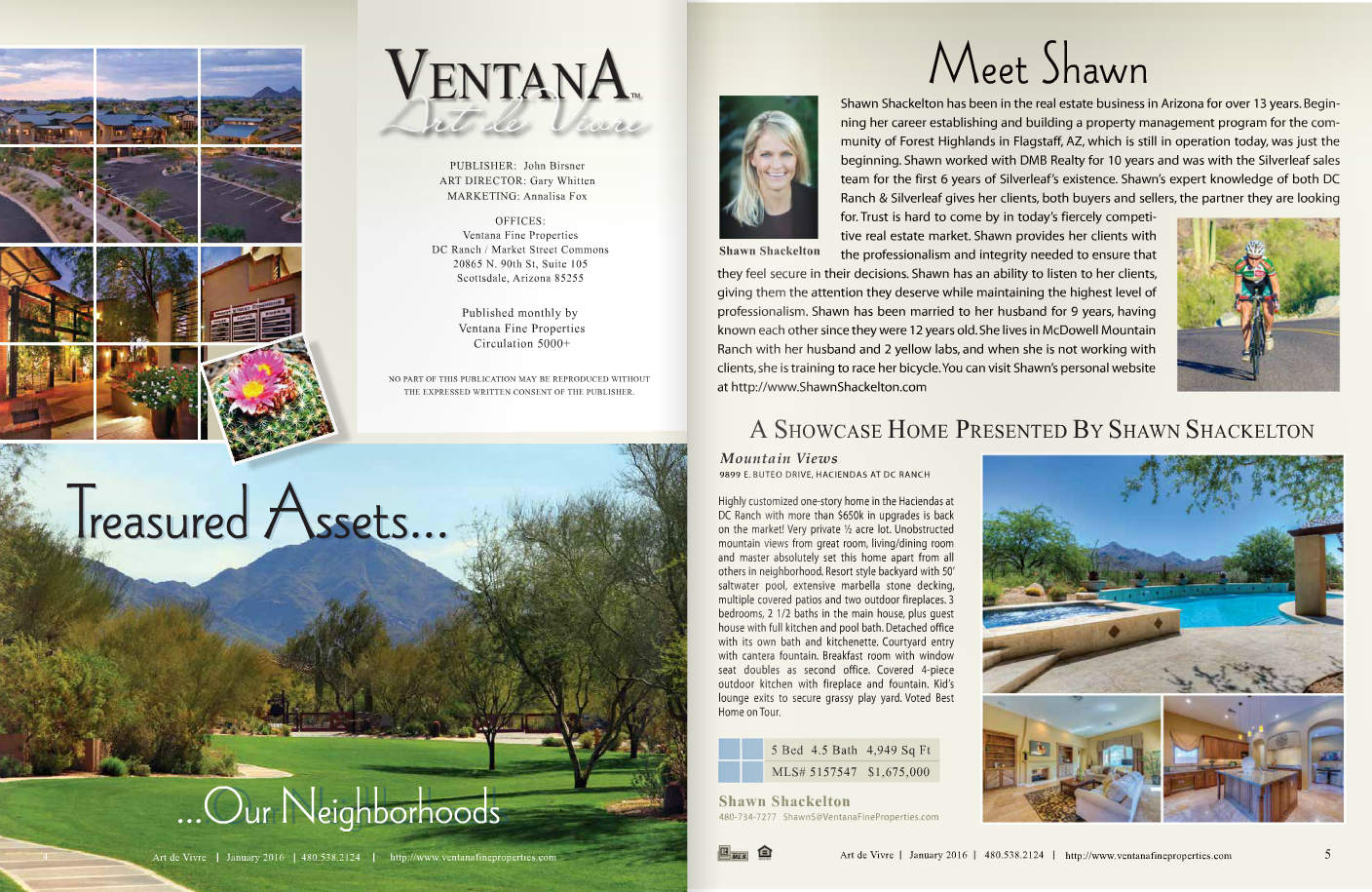 Ventana Fine Properties: Art de Vivre January 2016