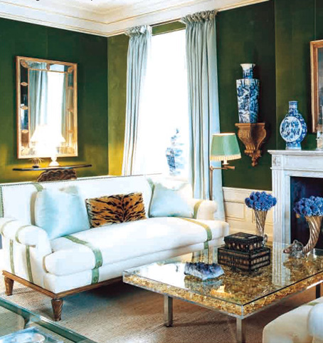 Of Course Lavishing An Exotic And Eye Catching Print On A Large Piece Of  Furniture Piece Is Not For Everyone. In This Eclectic Contemporary Sitting  Room, ...