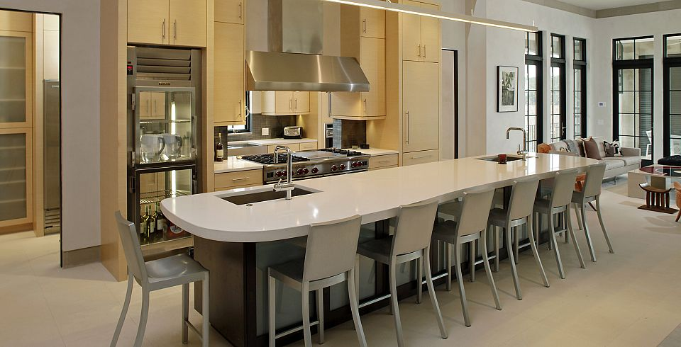 Top 10 luxurious gourmet kitchens for Gourmet kitchen island