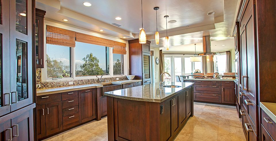 This Contemporary San Diego Homeu0027s Gourmet Kitchen Has Gorgeous Marble  Countertops, Various Sinks, Copious Cabinets For Storage And A Large Burner  All ...