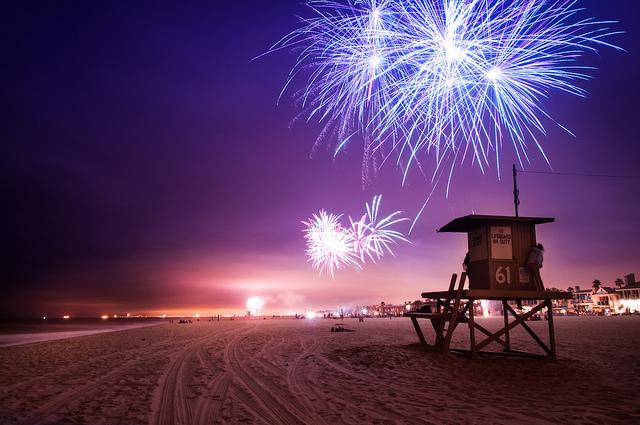 Fireworks Newport Beach California