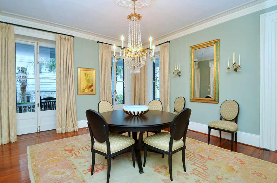 Charleston Open House: 17 Meeting Street Dining Room