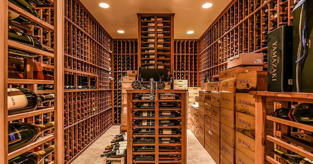 For the ultimate connoisseur luxurious wine rooms for Cost to build a wine cellar