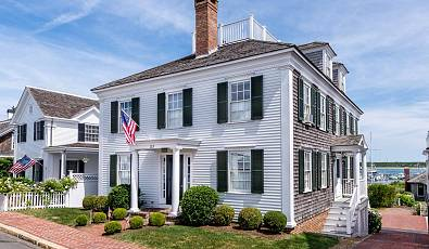 Classic Captain's Home With Deep Water Dock On Edgartown Harbor