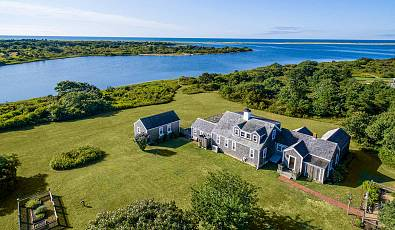 Exquisite Beauty And Rare Privacy: Edgartown Great Pond Waterfront