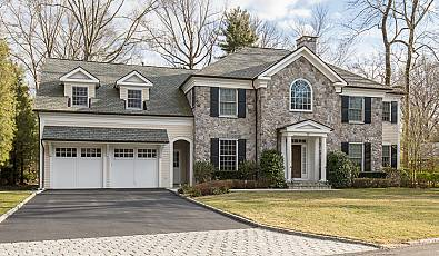 ELEGANT STONE COLONIAL: 30 Paddington Road Scarsdale, NY