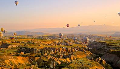 Up, Up, and Away | Take in the views from a hot air balloon ride